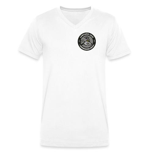 Lämykän Luja, uusi logo värikäs - Stanley & Stellan miesten luomupikeepaita