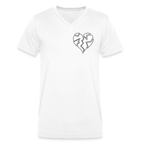 White HeartBroken - Men's Organic V-Neck T-Shirt by Stanley & Stella