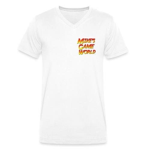 New Logo - Mannen bio T-shirt met V-hals van Stanley & Stella