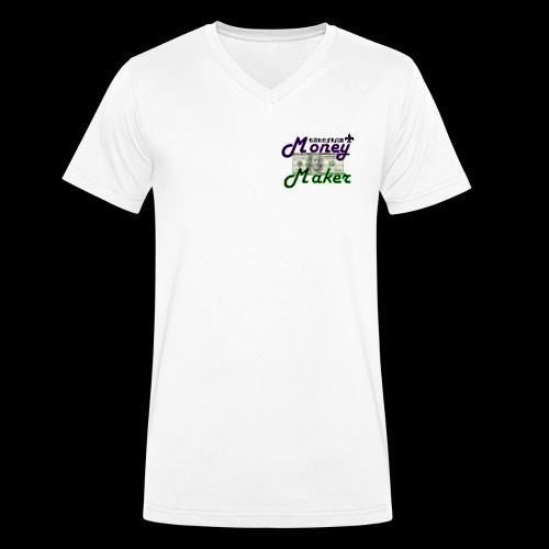 RF MONEY MAKER - Men's Organic V-Neck T-Shirt by Stanley & Stella