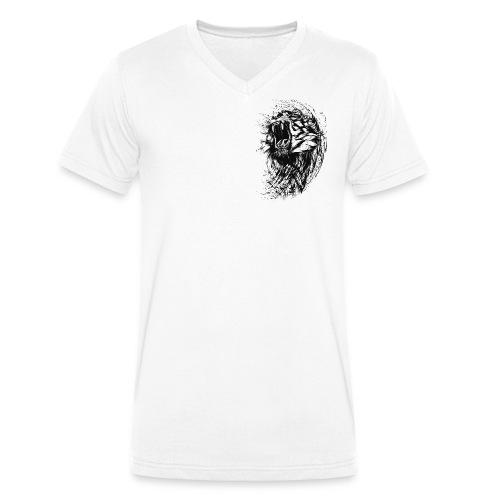 Lion Raw - Männer Bio-T-Shirt mit V-Ausschnitt von Stanley & Stella