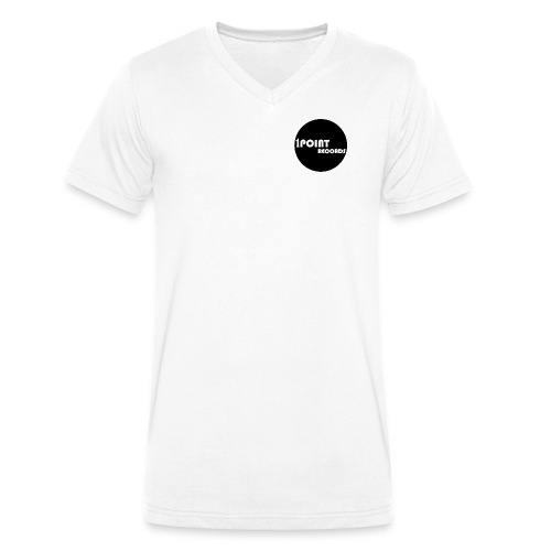 1PointRecords Logo1 ForSh - Men's Organic V-Neck T-Shirt by Stanley & Stella