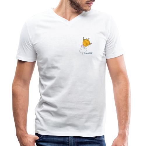 Zwiebel & Knoblauch - Männer Bio-T-Shirt mit V-Ausschnitt von Stanley & Stella