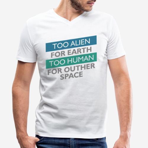 alien space astronaut - Männer Bio-T-Shirt mit V-Ausschnitt von Stanley & Stella