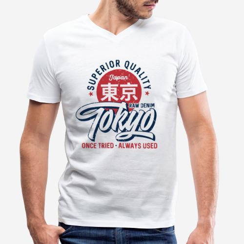 tokyo superior quality japan - Männer Bio-T-Shirt mit V-Ausschnitt von Stanley & Stella