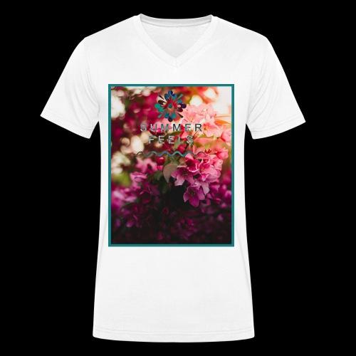 Summer Feels - Men's Organic V-Neck T-Shirt by Stanley & Stella