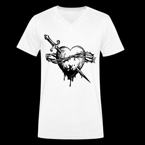 Heart ♥ - Men's Organic V-Neck T-Shirt by Stanley & Stella