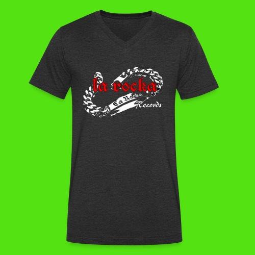 La Rocka black'n'red tsp - Men's Organic V-Neck T-Shirt by Stanley & Stella