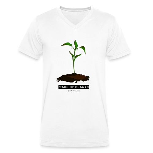 Made by plants - Men's Organic V-Neck T-Shirt by Stanley & Stella