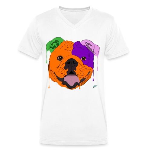 Bulldog - T-shirt ecologica da uomo con scollo a V di Stanley & Stella