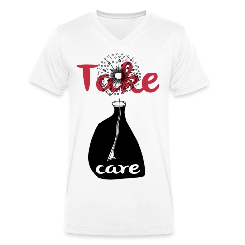 take_care - T-shirt ecologica da uomo con scollo a V di Stanley & Stella