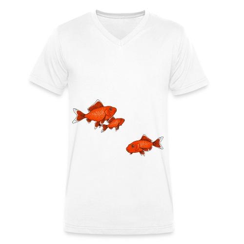 Poissons rouges - T-shirt bio col V Stanley & Stella Homme