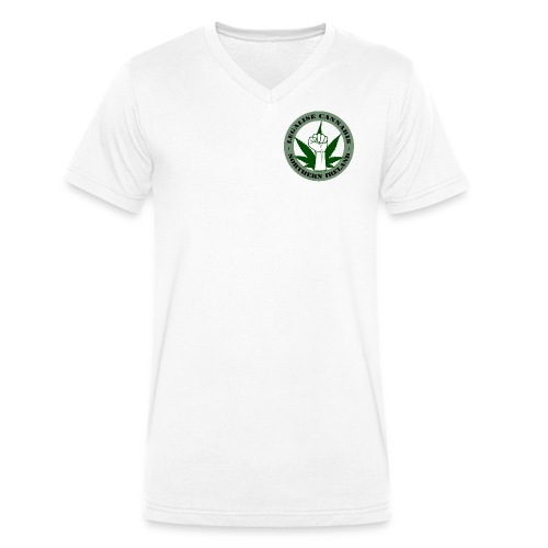 Legalise Cannabis - Northern Ireland - Men's Organic V-Neck T-Shirt by Stanley & Stella