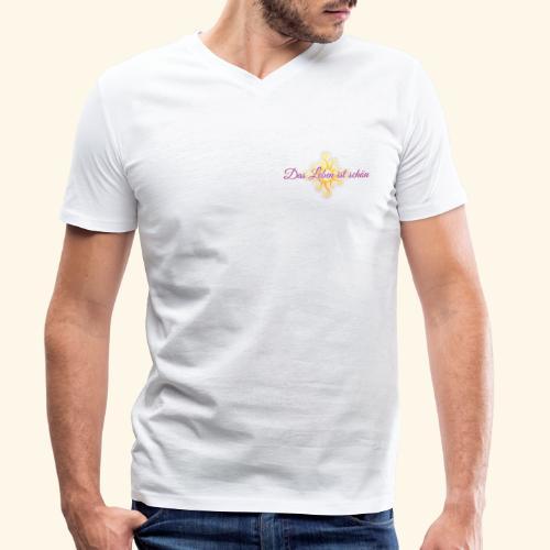 Das Leben ist schön 🌞 - Männer Bio-T-Shirt mit V-Ausschnitt von Stanley & Stella