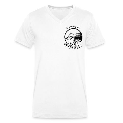 Les pêcheries de Prefailles - T-shirt bio col V Stanley & Stella Homme