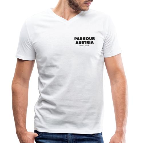 Parkour Austria (schwarzer Schriftzug) - Männer Bio-T-Shirt mit V-Ausschnitt von Stanley & Stella