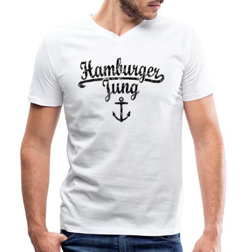 Hamburger Jung Klassik (Vintage Schwarz) Hamburg - Männer Bio-T-Shirt mit V-Ausschnitt von Stanley & Stella