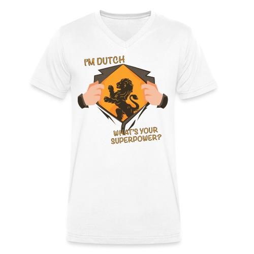 I'm Dutch, what's your superpower? - Mannen bio T-shirt met V-hals van Stanley & Stella