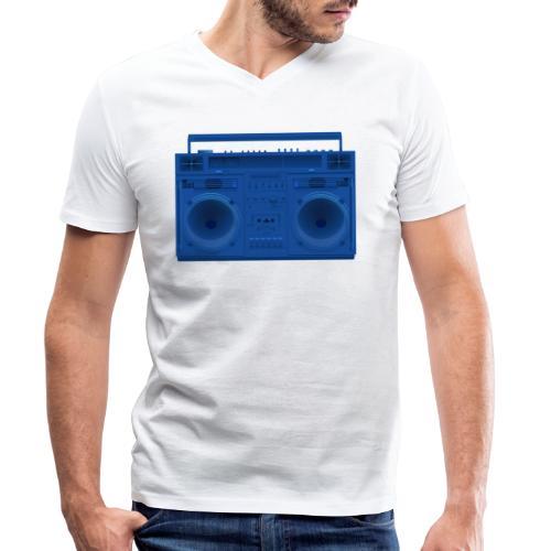 Bestes Stereo blau Design online - Männer Bio-T-Shirt mit V-Ausschnitt von Stanley & Stella