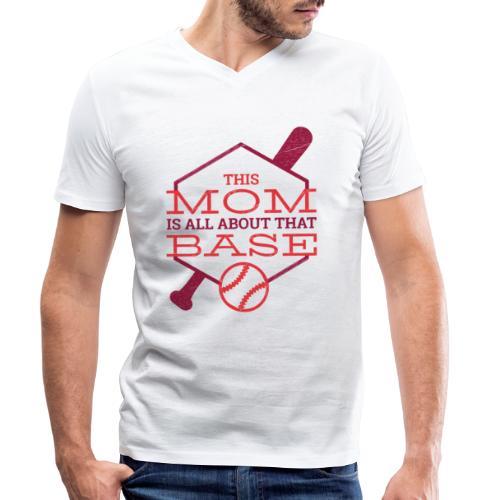 Bestes Baseball Mamma Design - Männer Bio-T-Shirt mit V-Ausschnitt von Stanley & Stella
