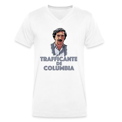 Pablo Escobar Narcos Kolumbien Columbia Business - Männer Bio-T-Shirt mit V-Ausschnitt von Stanley & Stella