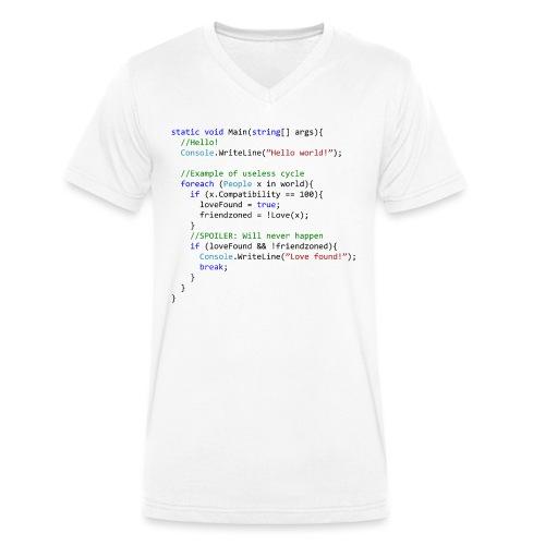 Love seen by a C# programmer - T-shirt ecologica da uomo con scollo a V di Stanley & Stella