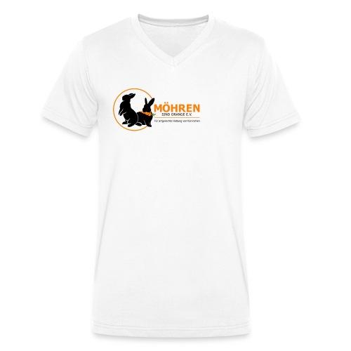 Möhren sind orange e.V. - Männer Bio-T-Shirt mit V-Ausschnitt von Stanley & Stella