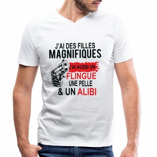 J'AI DEUX FILLES MAGNIFIQUES Best t-shirts 25% - T-shirt bio col V Stanley & Stella Homme