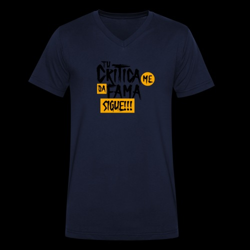 CRITICA - Camiseta ecológica hombre con cuello de pico de Stanley & Stella