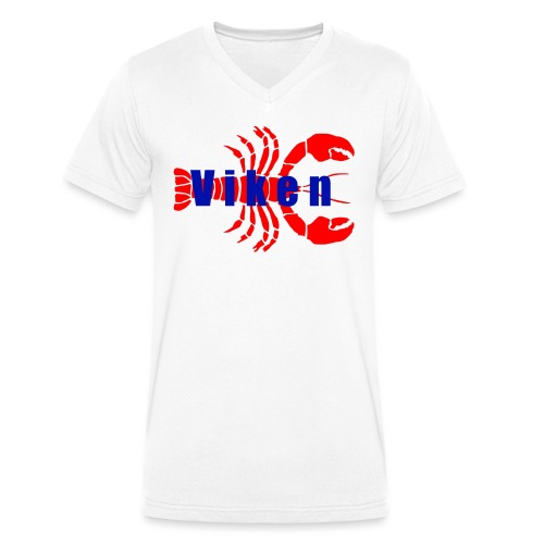 Vorren Logo HUMMERSÄSONG (Röd/Blå) - Ekologisk T-shirt med V-ringning herr från Stanley & Stella