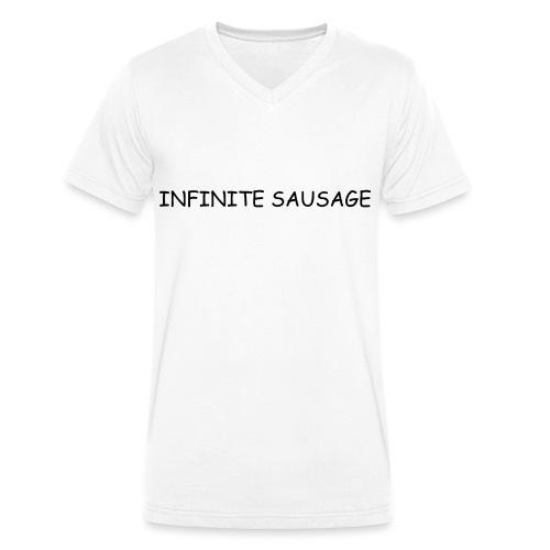 INFINITE SAUSAGE - Mannen bio T-shirt met V-hals van Stanley & Stella