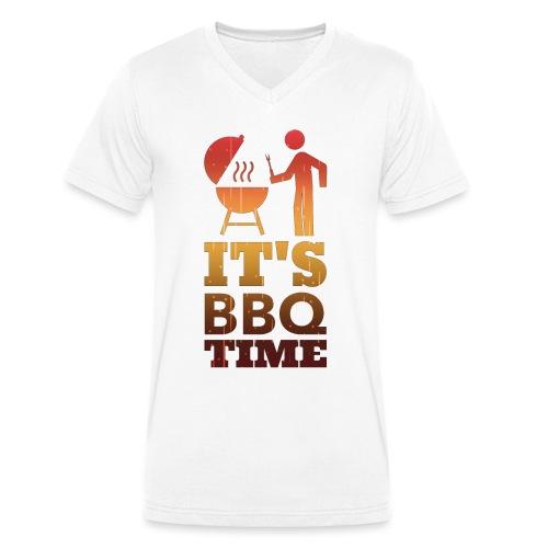 It's BBQ Time - Mannen bio T-shirt met V-hals van Stanley & Stella