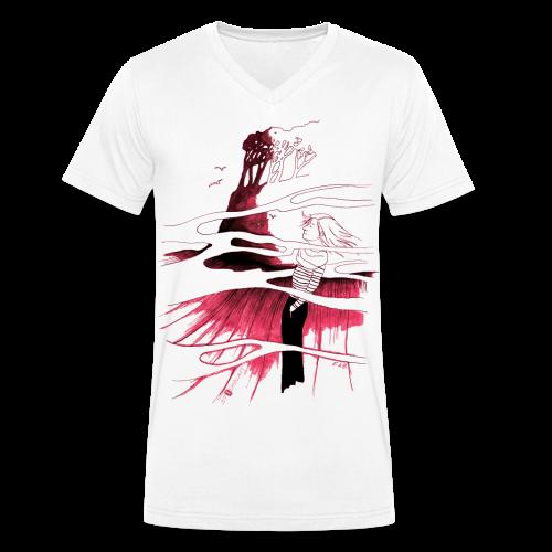 Ein Ort (rot) - Männer Bio-T-Shirt mit V-Ausschnitt von Stanley & Stella