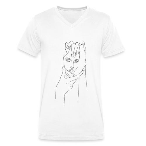 Spiegelsplitter - Männer Bio-T-Shirt mit V-Ausschnitt von Stanley & Stella