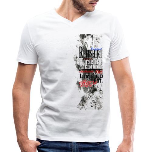 Limited Edition Reit Shirt Pferde Reiten - Männer Bio-T-Shirt mit V-Ausschnitt von Stanley & Stella