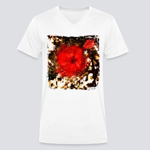 Hibiscus - Men's Organic V-Neck T-Shirt by Stanley & Stella