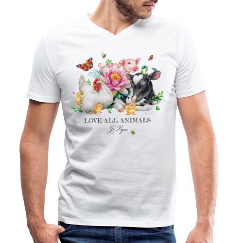 Go vegan - Men's Organic V-Neck T-Shirt by Stanley & Stella