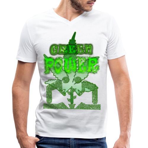Green Power - T-shirt bio col V Stanley & Stella Homme
