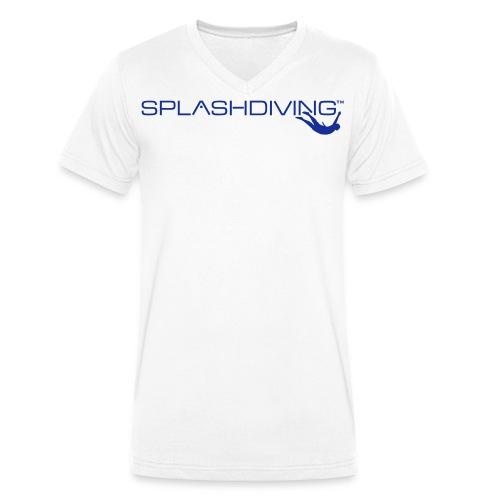 splashdiving cilogo blau - Männer Bio-T-Shirt mit V-Ausschnitt von Stanley & Stella