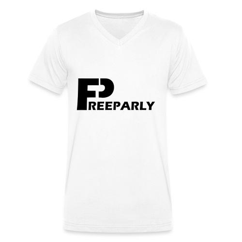 Freeparly - Mannen bio T-shirt met V-hals van Stanley & Stella