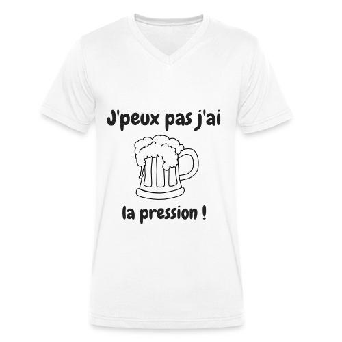J'peux pas j'ai la pression ! - T-shirt bio col V Stanley & Stella Homme