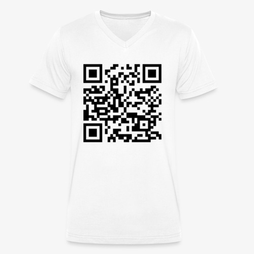 Channel Link QR Code - Men's Organic V-Neck T-Shirt by Stanley & Stella