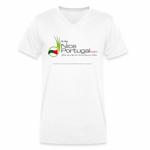 NicePortugal.com Logo - T-shirt ecologica da uomo con scollo a V di Stanley & Stella