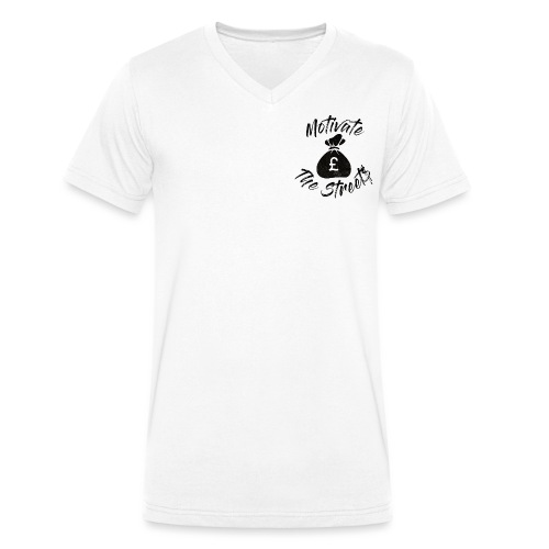 Motivate The Streets - Men's Organic V-Neck T-Shirt by Stanley & Stella