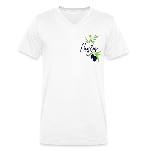 Puglia - T-shirt ecologica da uomo con scollo a V di Stanley & Stella