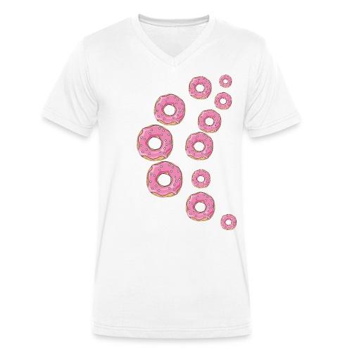 Pinker Streusel Donut - Männer Bio-T-Shirt mit V-Ausschnitt von Stanley & Stella