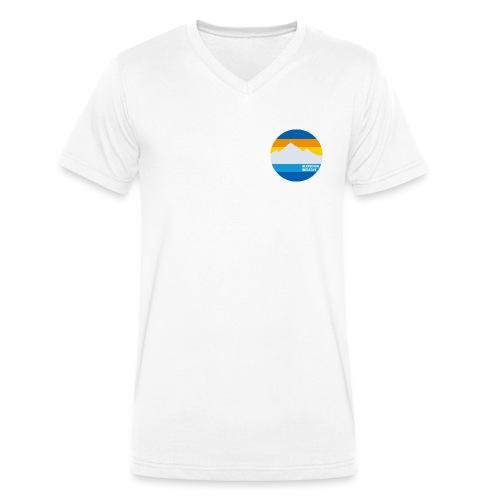 Gletscher-Initiative - Männer Bio-T-Shirt mit V-Ausschnitt von Stanley & Stella