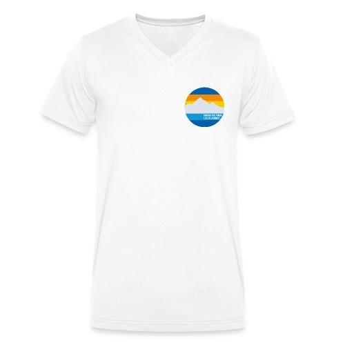 Initiative pour les glaciers - Männer Bio-T-Shirt mit V-Ausschnitt von Stanley & Stella