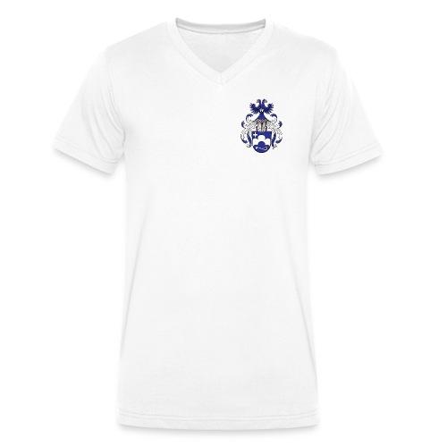 Petridis Wappen farbig Converted nina png - Männer Bio-T-Shirt mit V-Ausschnitt von Stanley & Stella