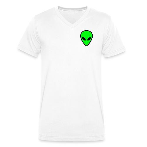 alien face 5 - T-shirt ecologica da uomo con scollo a V di Stanley & Stella